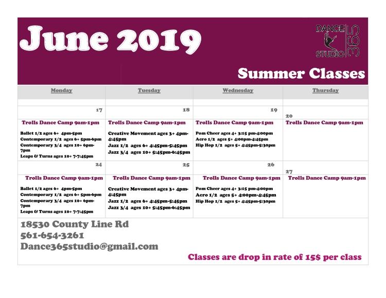 June-2019-Schedule